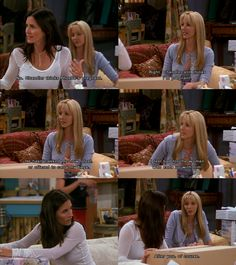 The One With The Red Sweater #friends monica and phoebe