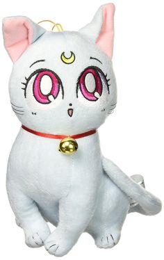 Amazon.com: GE Animation Great Eastern GE-52655 Sailor Moon Super S Diana Cat Stuffed Plush: Toys & Games