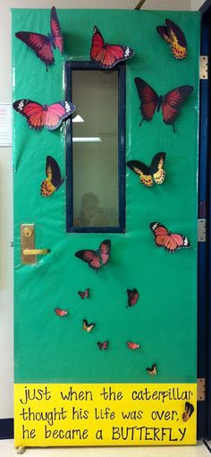 Butterfly Classroom Decorations : Images about classroom door decor on pinterest