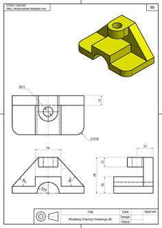 Ejercicios niños - picture for you Mechanical Engineering Design, Engineering Tools, Mechanical Design, Isometric Sketch, Autocad Isometric Drawing, Orthographic Drawing, Orthographic Projection, Isometric Drawing Exercises, Cad 3d