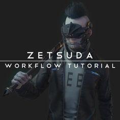 Zetsuda Workflow Tutorial, Ali Glen on ArtStation at https://www.artstation.com/artwork/Yq6lV
