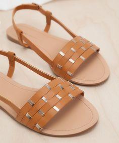 Sandals with vamp detail - Footwear.