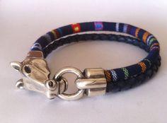 Horse bracelet. mens bracelet,  bracelet for mens, equestrian bracelet, western silver, cowgirl bracelet, fabric bracelet, unisex bracelet