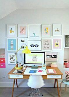 Colorful Home Office design #office #ironageoffice http://www.ironageoffice.com/