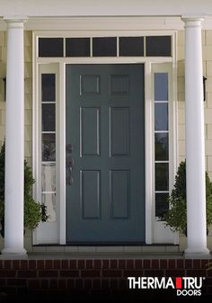 Therma Tru Smooth Star Fibergl Door Painted Gale Force Exterior Doors With Sidelights
