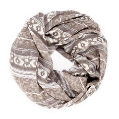 "Sole Society ""knit print infinity scarf"", $24.95"