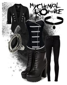 """My Chemical Romance"" by riotofthedamned ❤ liked on Polyvore featuring rag & bone, Trilogy, Daytrip, Miss Selfridge, Topshop, women's clothing, women's fashion, women, female and woman"