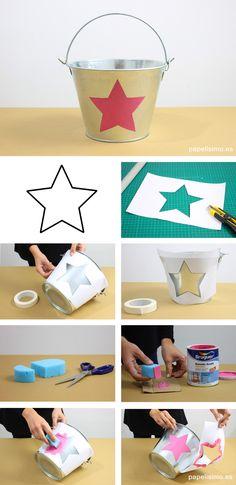 Cómo-pintar-cubo-metálico-diy-metal-bucket