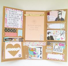 Cute Mail Folder made by www.instagram.com/janettelaneblog Find more Snail Mail ideas and penpals on www.snailmail-ideas.com