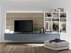 Fluida - indipendent kitchen module indipendent living rooms line by scavolini moduler kitchen, italian living Moduler Kitchen, Living Room Kitchen, Living Room Decor, Living Rooms, Usa Living, Home And Living, Italian Living Room, Rack Tv, Grey Kitchen Designs