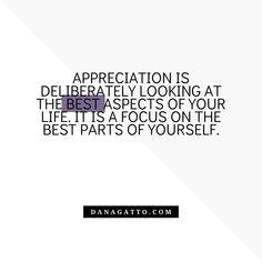 Appreciation, Coaching, Life, Training