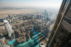 The Burj Khalifa is famously the tallest skyscraper in the world (for now, at least), and, while the observation deck won't get you to the tippy-top, the view from the 1,483-foot-high 124th floor is still pretty jaw-dropping. Like many of the observation decks, there are high-tech telescopes at the observation deck for you to use, and, at that height, you're going to need them.
