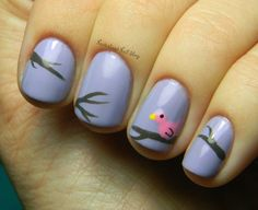 Neverland Nail Blog: Cute Birdie Mani!
