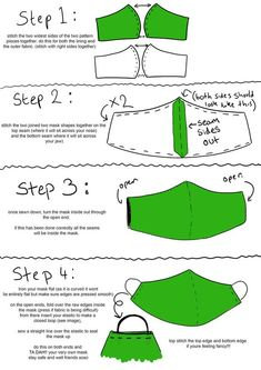 3D Face Mask Template free sewing pattern FaceMask