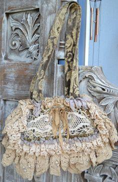 Beautiful Magnolia Pearl Handbag/Purse Gorgeous One Of A Kind Original