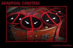 Through the Keyhole: Deadpool Coasters Pattern