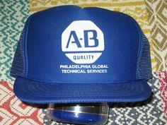 12d0fa1dbe9 Vintage 1980s era AB Quality Philadelphia mesh trucker hat. Snapback.  Excellent condition. One