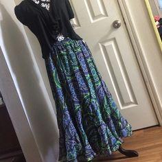 "Mix Nouveau long skirt Nice skirt,Royal lime,size L,100%polyester,30"" long Mix Nouveau Skirts Maxi"