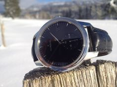 First winter snow in St-Imier - and our right in the midst of it. Winter Snow, Smart Watch, Smartwatch