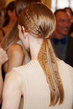 Crimped ponytail at Stella McCartney spring 2015