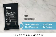 BEST Healthy Protein bars - RXBAR Chocolate Sea Salt
