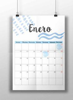 Imprimible calendario 2017 + Sorteo de una agenda, planificador 2017, imprimible gratuito calendario 2017, free printable calendar, free bieer