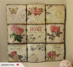 1000 images about shabby chic wall art on pinterest for Decoration shabby romantique