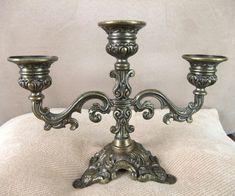 A nice set of 2 vintage ornate brass candelabras. Description from etsy.com. I searched for this on bing.com/images
