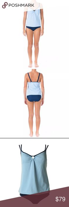 Coming Soon Mainstream Tankini Set Mainstream  Tankini Swim Set  Blue  New with Tags $79 Full-Moderate Coverage  O-ring bust detail  Split adjustable straps  Lightly lined mainstream  Swim