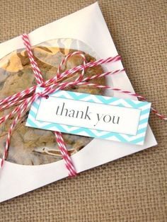 This is pretty much the perfect favor for us bc it combines two of our favorities things, cookies and music (it's in a CD envelope!) :) — Wedding Ideas, Wedding Trends, and Wedding Galleries