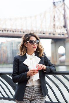 Olivia from Corporate Catwalk in Citizen's Mark - Geneva Luxe Fit blazer in black