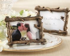 Sylvan Tree Branch Place Card/Photo Holder by FavorIdeas   Love these :)