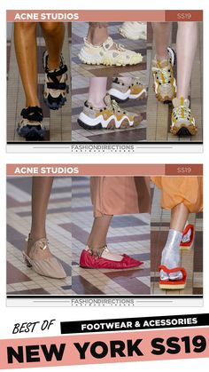 #nyfw #2018 #ss19 #bestof #womens #footwear #shoes #handbags #trends #fashion #accessories #fashiondirections #acnestudios Nyfw 2018, Footwear Shoes, Prabal Gurung, Ulla Johnson, Acne Studios, Diane Von Furstenberg, Designer Shoes, Tory Burch, Fashion Accessories