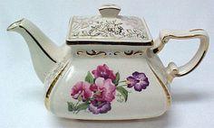 Antique Sweet Pea Teapot
