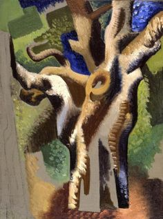 'Tree' (ca 1920s) by Czech-American artist Jan Matulka (1890-1972)