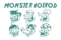 MONSTER HOTROD HEAD by arace on @creativemarket