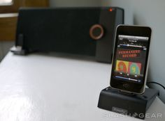 Bluetooth dock for iPhone. It has amazing sound, and is so convenient.