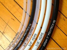 Finding the right size hoop tubing for you & the type of hooping you want to do
