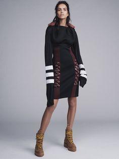 Publication: Vogue Australia September 2015, Model: Amanda Wellsh, Photographer: Benny Horne, Dress: Prada