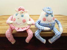 Set of Vintage Humpty Dumpty Dolls Humpty Dumpty by FoxLaneVintage, $18.25