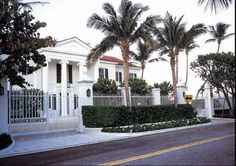 126 S. Ocean Blvd., Palm Beach. The 1938 Neo-Classical house was restored by Jeff Smith. An informal family dining room opening toward the ocean was added in the late 1990s. Owners: Leonard and Evelyn Lauder own the home that formerly belonged to cosmetics queen Estee Lauder.
