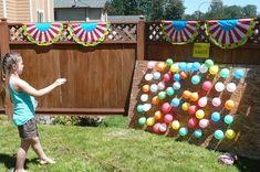 "Photo 4 of Madelyn turns 9 / Birthday ""Backyard Carnival Party"" Carnival Birthday Parties, Circus Birthday, Birthday Party Games, Birthday Wishes, Birthday Ideas, Happy Birthday, Cowboy Party, Backyard Carnival, Backyard Games"