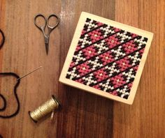 Target Handmade Modern embroidered box pattern idea