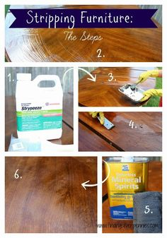 Silver Pennies: DIY: How to Strip Furniture