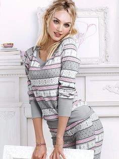 Candice Swanepoel for VS PJ // Victoria's Secret pijama/sleepwear collection October 2013! #MyVSFallEdit