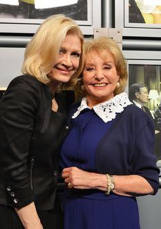 "Diane Sawyer Photos - (L-R) ABC News anchor Diane Sawyer (L) and Barbara Walters attend the dedication ceremony as ABC News headquarters in New York is proclaimed ""The Barbara Walters Building"" ABC News Headquarters Dedication Ceremony on May 12, 2014 in New York City. - ABC News Headquarters Dedication Ceremony"