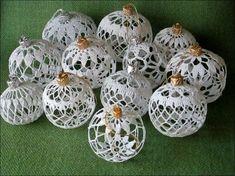 Christmas Snowballs Thread Crochet ePattern - Her Crochet Crochet Christmas Decorations, Crochet Ornaments, Christmas Crochet Patterns, Holiday Crochet, Crochet Snowflakes, Christmas Angels, Xmas Decorations, Christmas Tree Ornaments, Christmas Bells