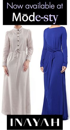 Beautiful long sleeve maxi dresses available for sale now at Mode-sty. www.mode-sty.com