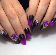 Fashion manicure nail art - Page 19 of 20 Fabulous Nails, Perfect Nails, Gorgeous Nails, Stylish Nails, Trendy Nails, Hot Nails, Hair And Nails, Nail Art Fleur, Punk Nails