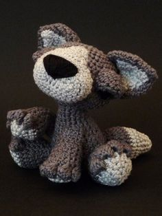 Thinking of crocheting this for my little pup: Amigurumi Pattern Lupo  the wolf by Lapetite2101 on Etsy, $4.00